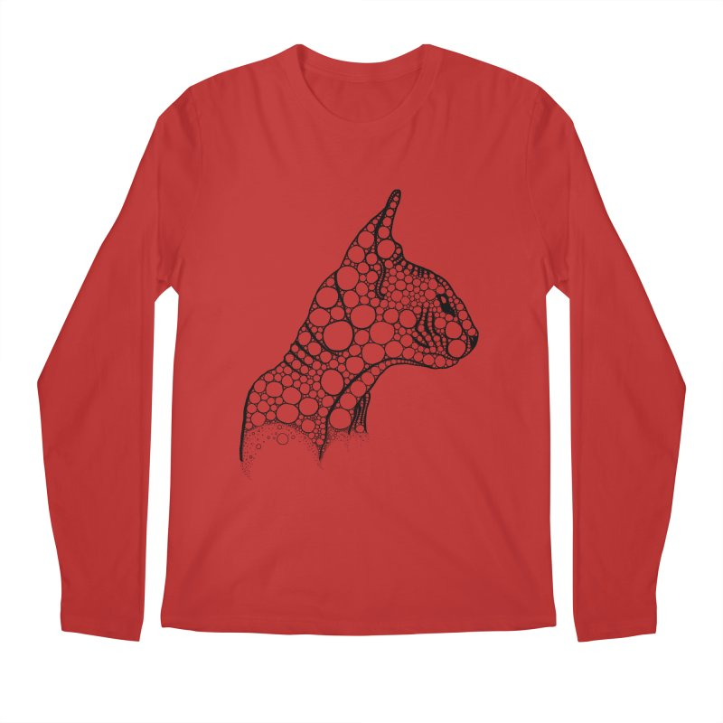 Black Fractal Sphynx Men's Regular Longsleeve T-Shirt by selendripity's Artist Shop