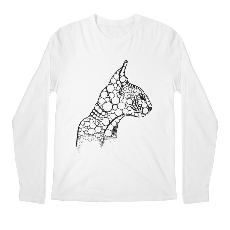 Black Fractal Sphynx Men's Longsleeve T-Shirt by selendripity's Artist Shop
