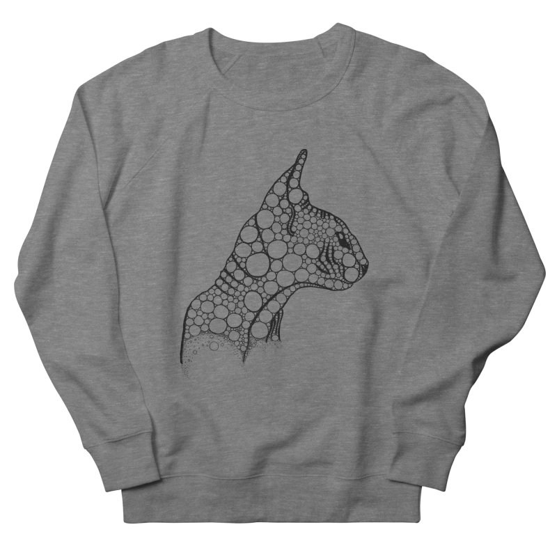 Black Fractal Sphynx Women's French Terry Sweatshirt by selendripity's Artist Shop