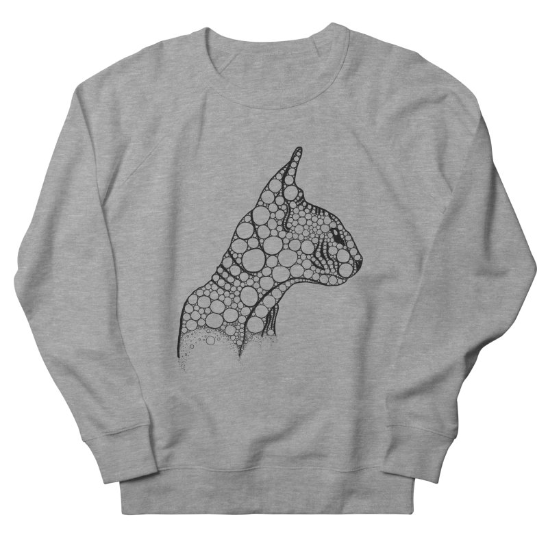 Black Fractal Sphynx Men's French Terry Sweatshirt by selendripity's Artist Shop