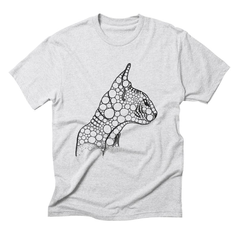 Black Fractal Sphynx Men's Triblend T-Shirt by selendripity's Artist Shop