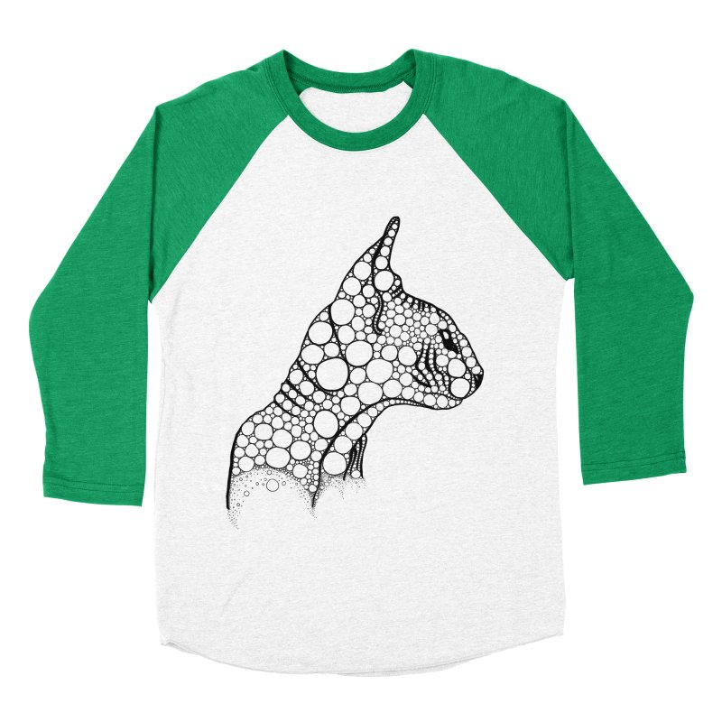 Black Fractal Sphynx Women's Baseball Triblend Longsleeve T-Shirt by selendripity's Artist Shop