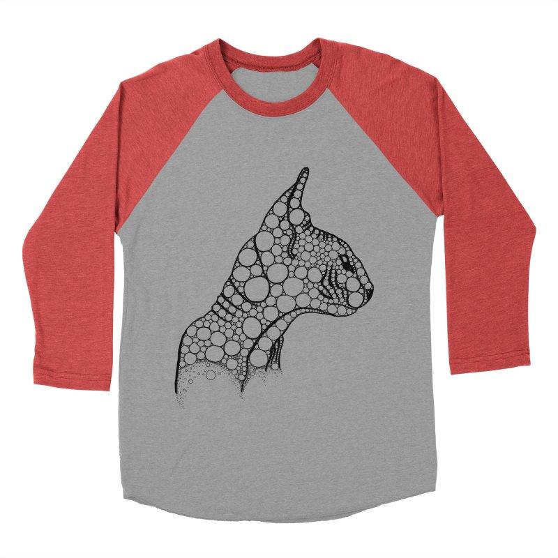 Black Fractal Sphynx Men's Baseball Triblend Longsleeve T-Shirt by selendripity's Artist Shop