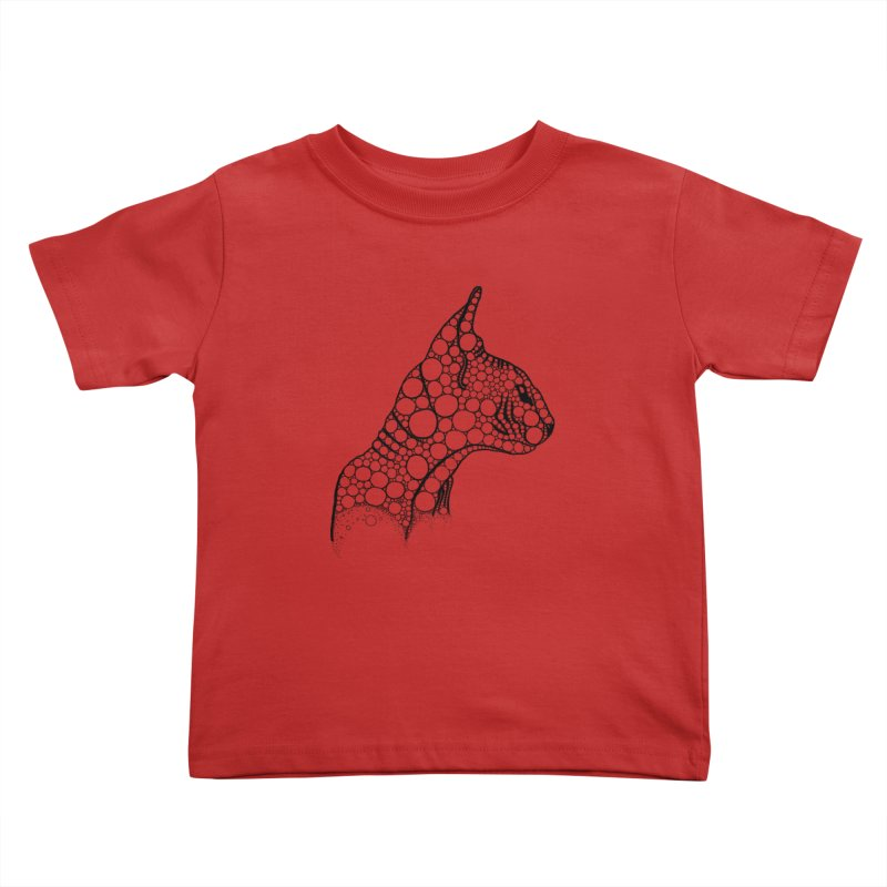 Black Fractal Sphynx Kids Toddler T-Shirt by selendripity's Artist Shop