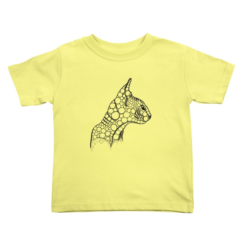 Black Fractal Sphynx Kids Toddler T-Shirt by selendripity's Artist Shop