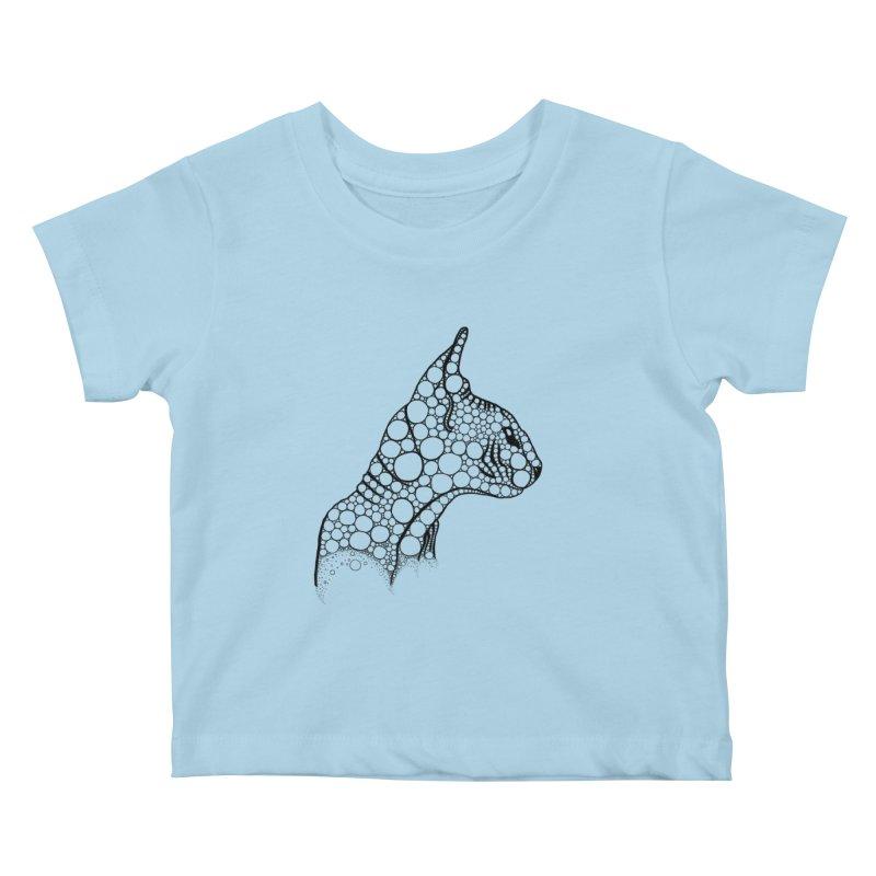 Black Fractal Sphynx Kids Baby T-Shirt by selendripity's Artist Shop