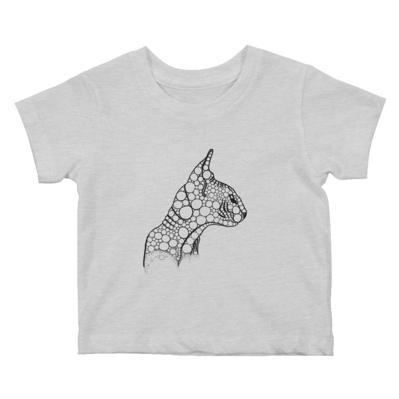 Black Fractal Sphynx Kids Baby T-Shirt by selendripity's Artist Shop
