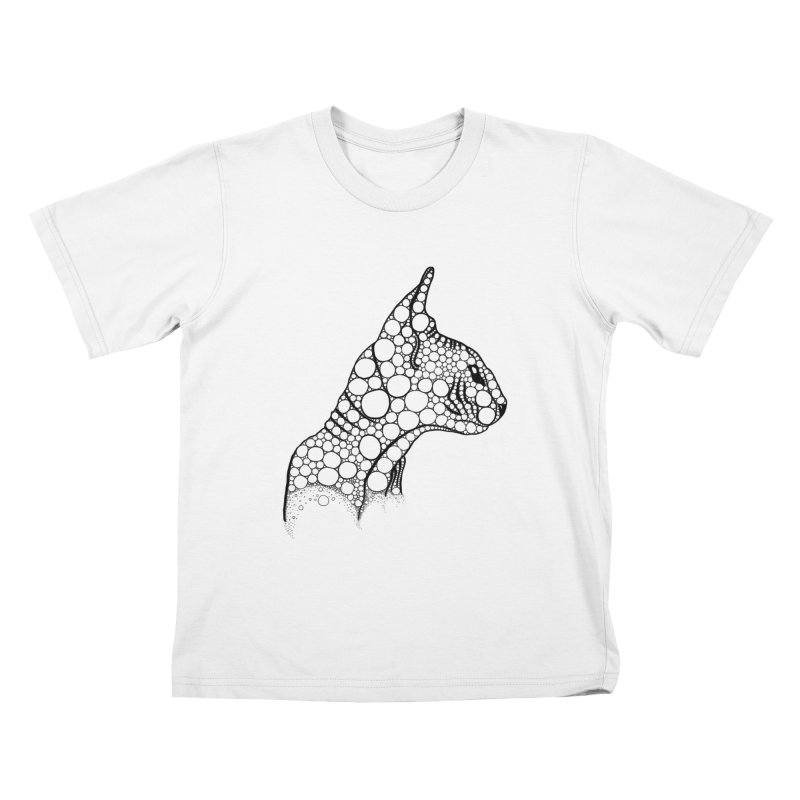Black Fractal Sphynx Kids T-Shirt by selendripity's Artist Shop
