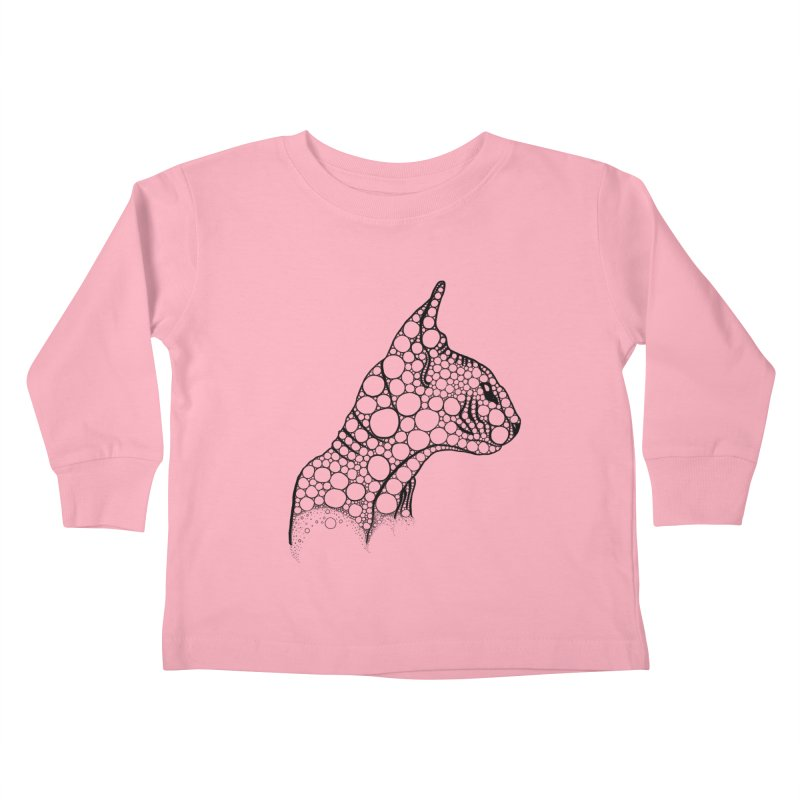 Black Fractal Sphynx Kids Toddler Longsleeve T-Shirt by selendripity's Artist Shop