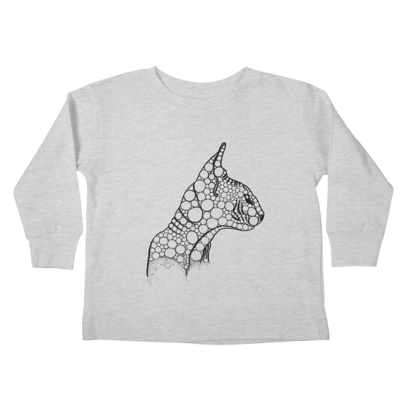 Black Fractal Sphynx Kids Toddler Longsleeve T-Shirt by selendripity's Artist Shop