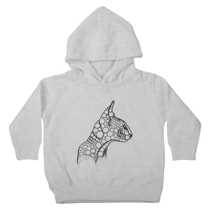 Black Fractal Sphynx Kids Toddler Pullover Hoody by selendripity's Artist Shop