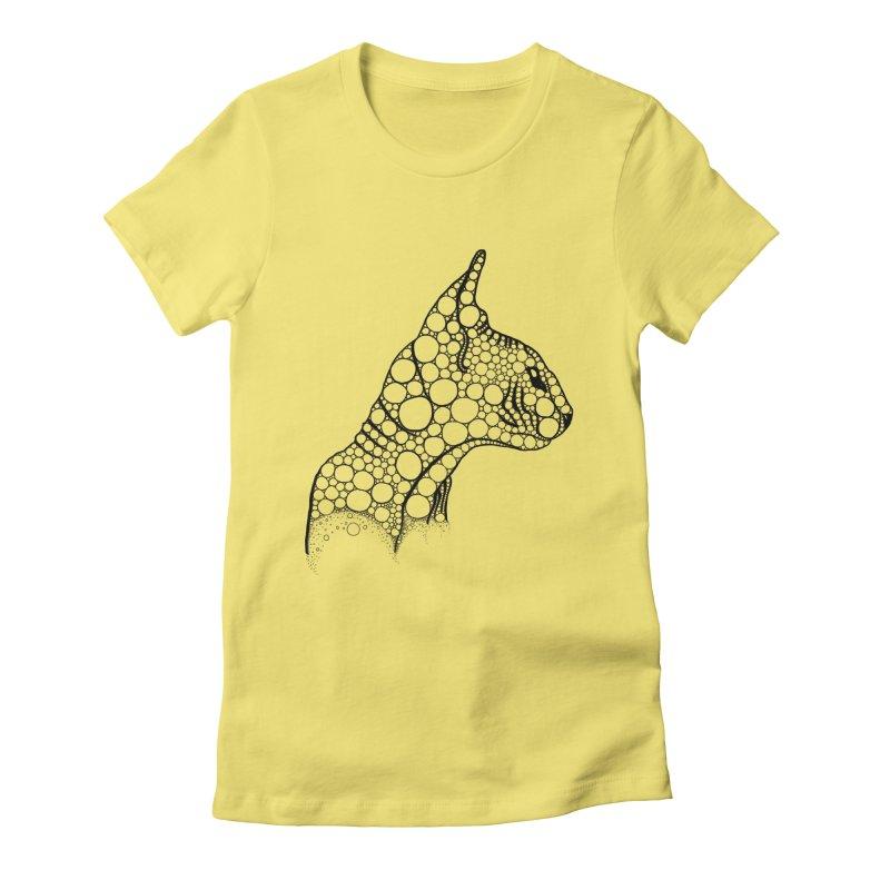 Black Fractal Sphynx Women's T-Shirt by selendripity's Artist Shop