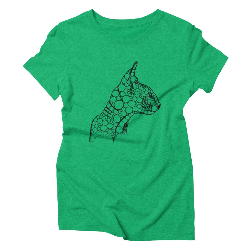 Black Fractal Sphynx Women's Triblend T-Shirt by selendripity's Artist Shop