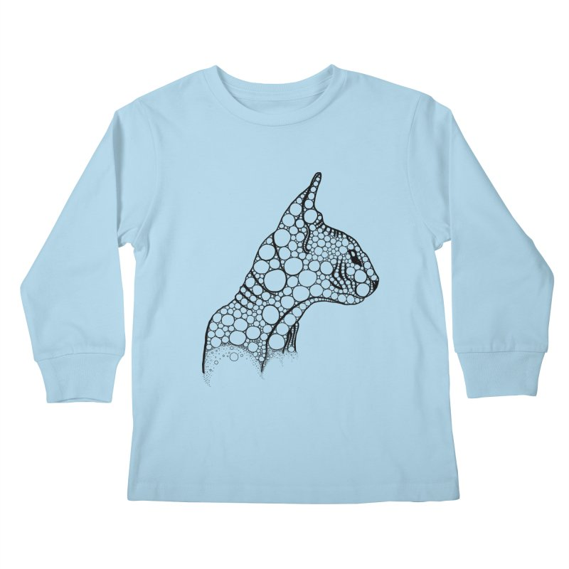 Black Fractal Sphynx Kids Longsleeve T-Shirt by selendripity's Artist Shop