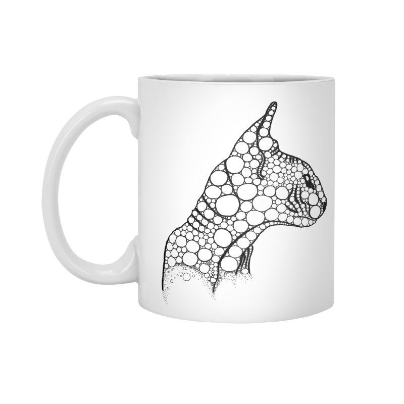 Black Fractal Sphynx Accessories Mug by selendripity's Artist Shop