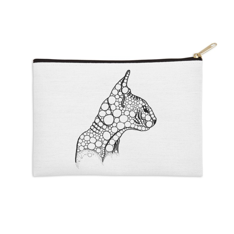 Black Fractal Sphynx Accessories Zip Pouch by selendripity's Artist Shop