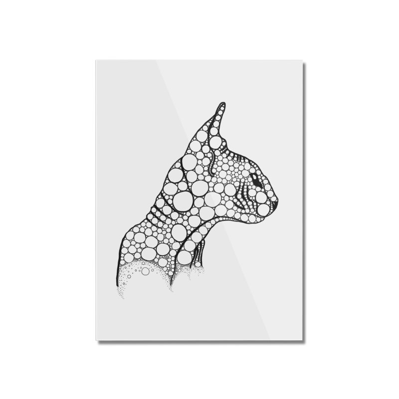 Black Fractal Sphynx Home Mounted Acrylic Print by selendripity's Artist Shop