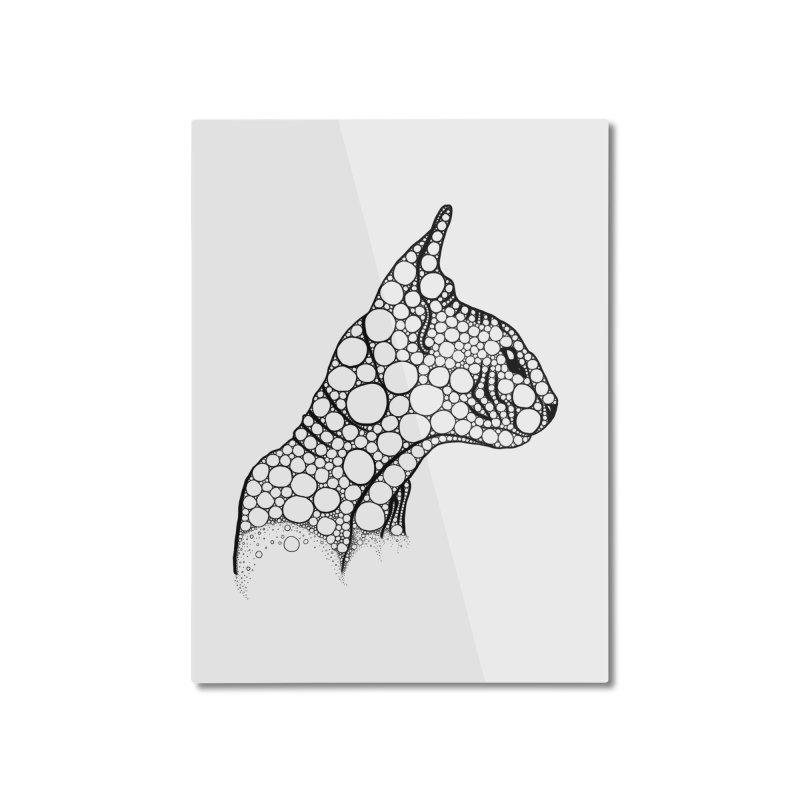 Black Fractal Sphynx Home Mounted Aluminum Print by selendripity's Artist Shop