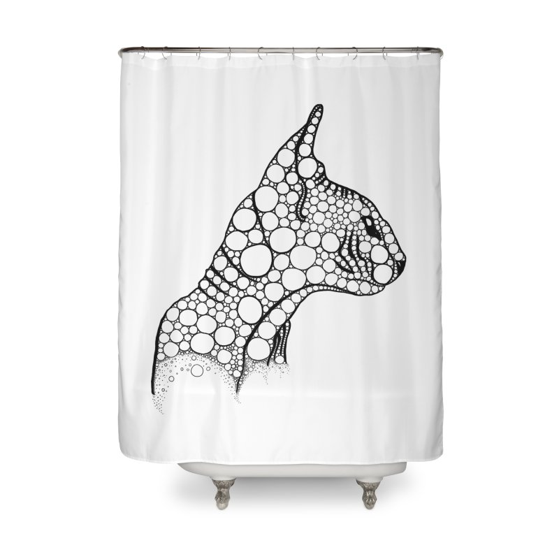 Black Fractal Sphynx Home Shower Curtain by selendripity's Artist Shop