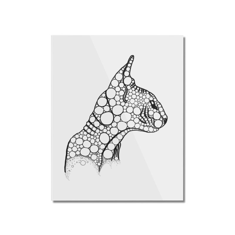 Black Fractal Sphynx Home Mounted Acrylic Print by selendripity's Artist Shop