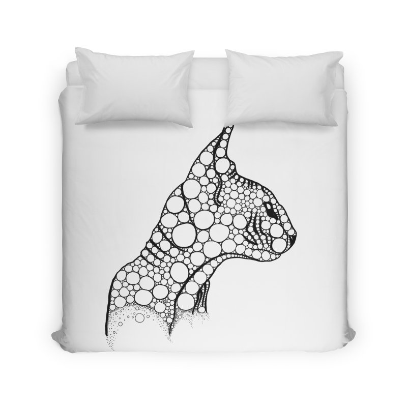 Black Fractal Sphynx Home Duvet by selendripity's Artist Shop