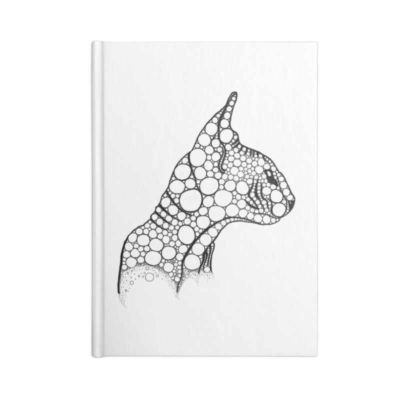 Black Fractal Sphynx Accessories Lined Journal Notebook by selendripity's Artist Shop