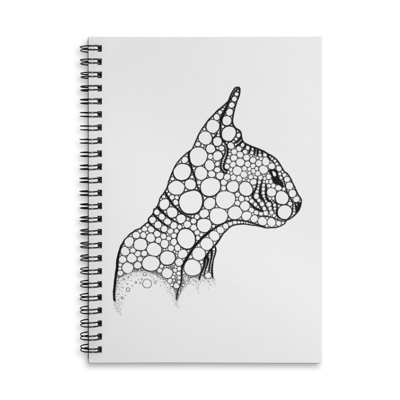 Black Fractal Sphynx Accessories Lined Spiral Notebook by selendripity's Artist Shop