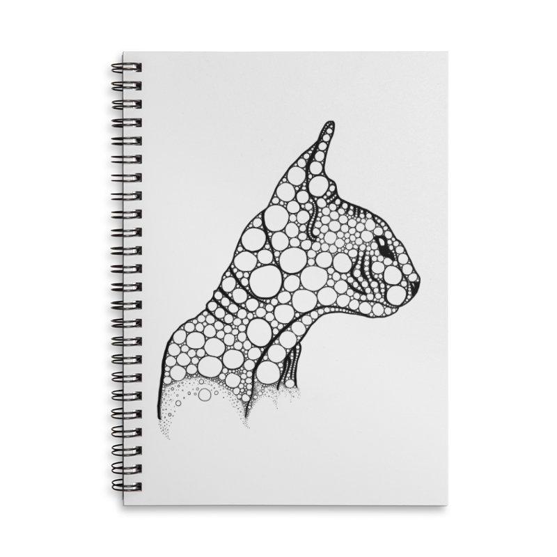 Black Fractal Sphynx Accessories Notebook by selendripity's Artist Shop