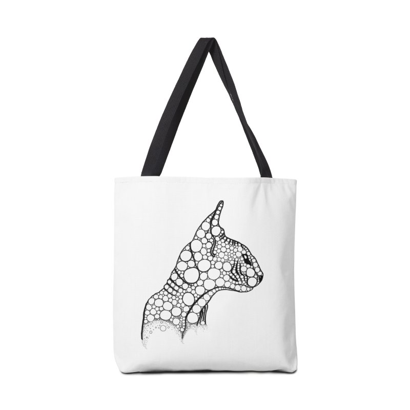 Black Fractal Sphynx Accessories Bag by selendripity's Artist Shop