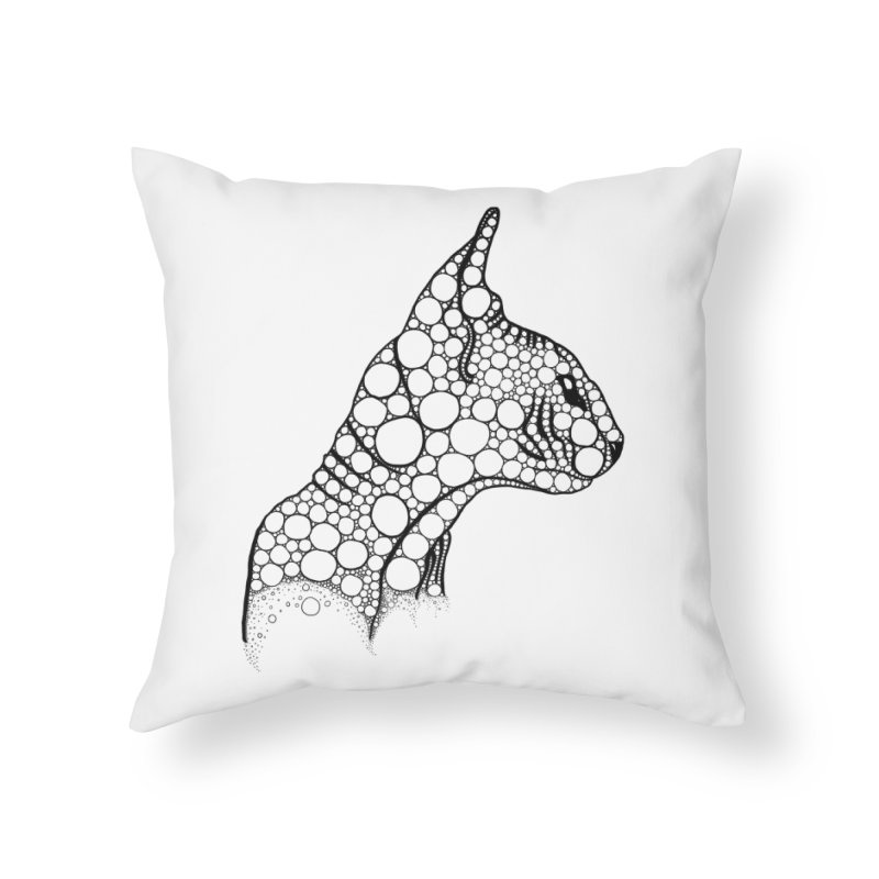 Black Fractal Sphynx Home Throw Pillow by selendripity's Artist Shop