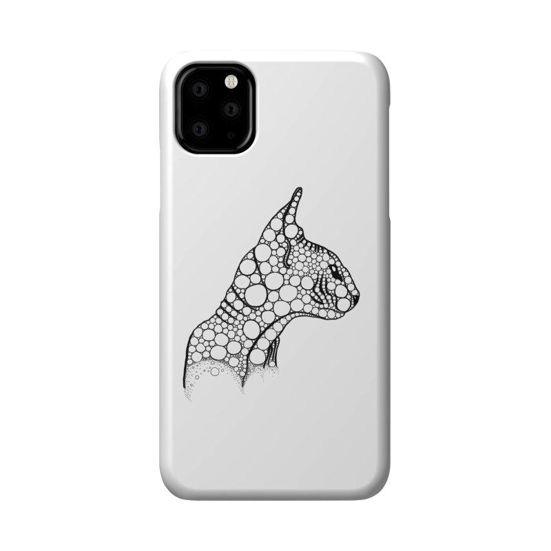 Black Fractal Sphynx Accessories Phone Case by selendripity's Artist Shop