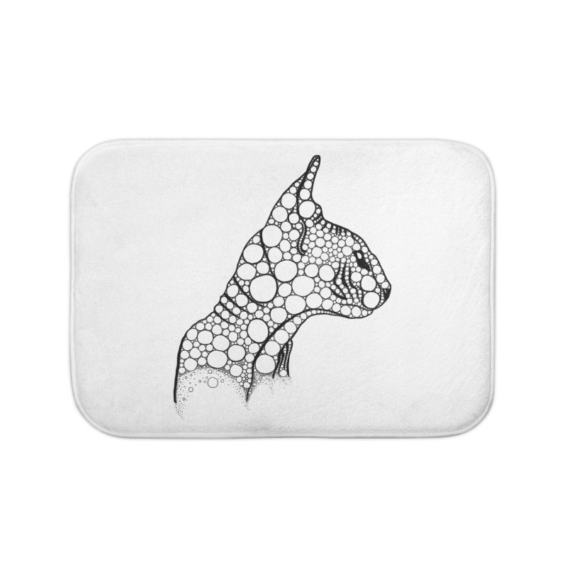 Black Fractal Sphynx Home Bath Mat by selendripity's Artist Shop