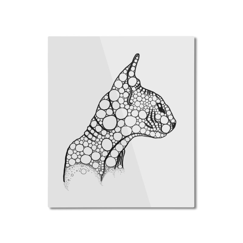 Black Fractal Sphynx Home Mounted Aluminum Print by selendripity's Artist Shop