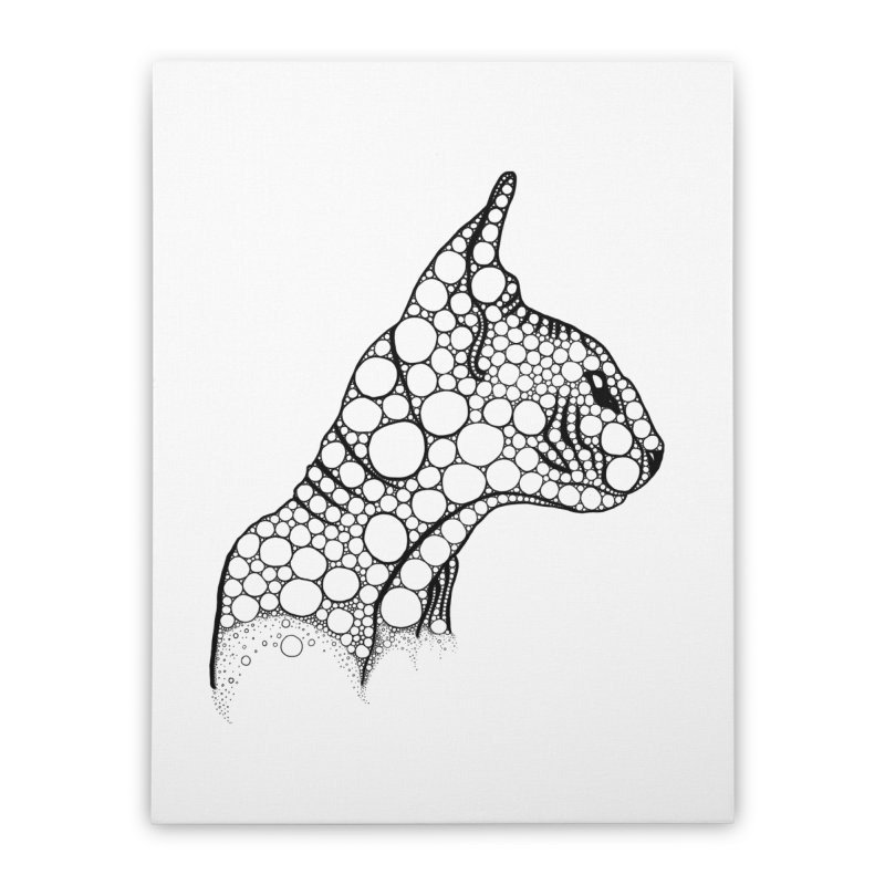 Black Fractal Sphynx Home Stretched Canvas by selendripity's Artist Shop