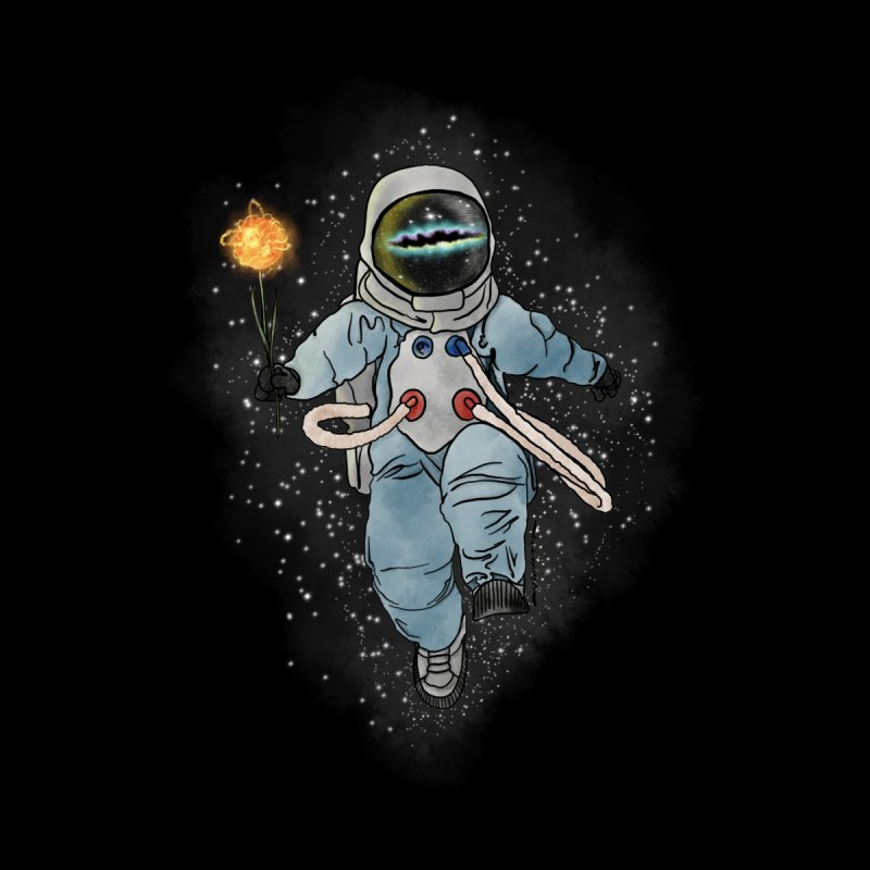 Spaceman with a Star Home Bath Mat by selendripity's Artist Shop