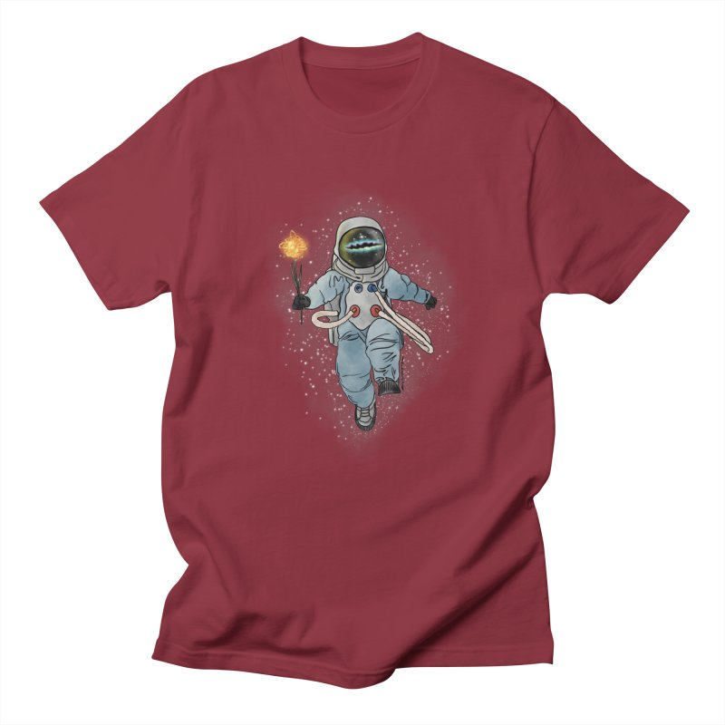 Spaceman with a Star Men's T-Shirt by selendripity's Artist Shop