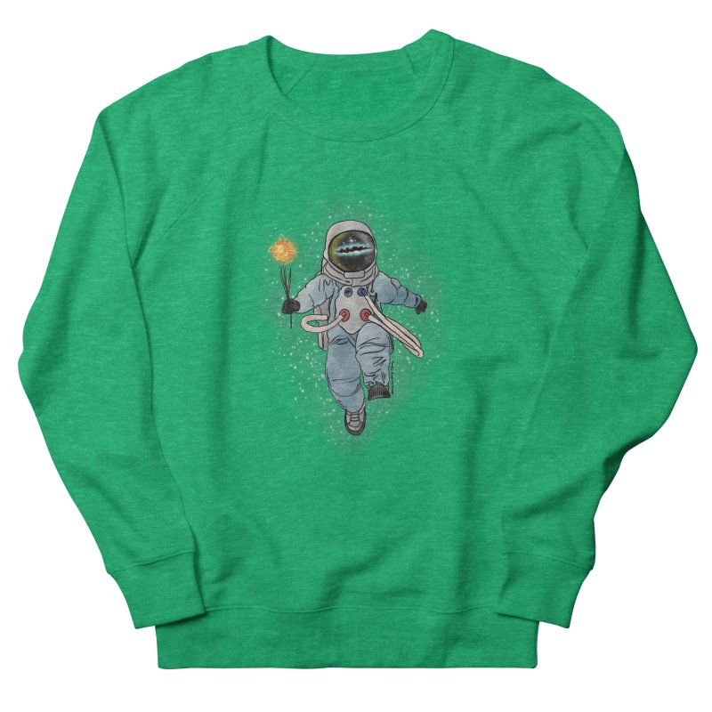Spaceman with a Star Women's Sweatshirt by selendripity's Artist Shop
