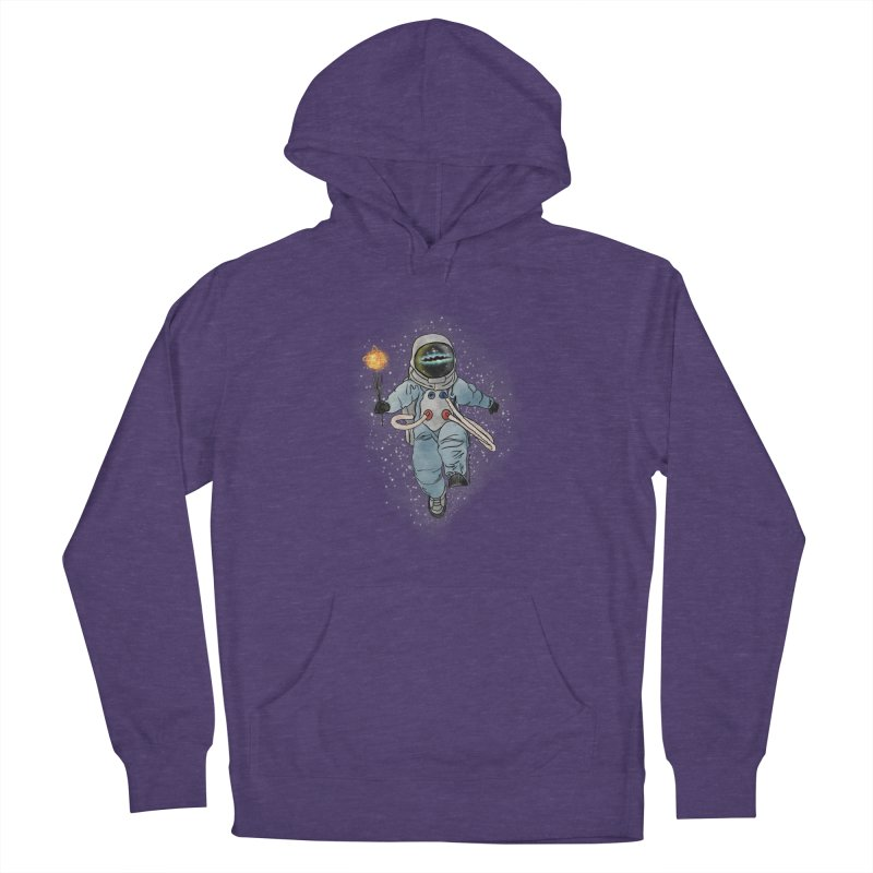 Spaceman with a Star Women's French Terry Pullover Hoody by selendripity's Artist Shop