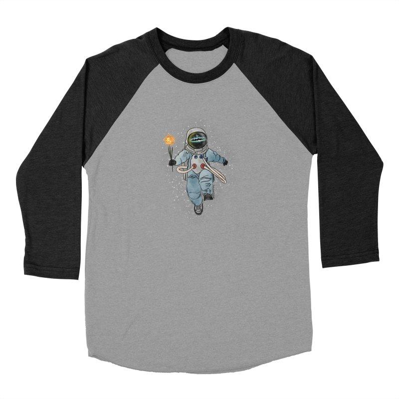 Spaceman with a Star Men's Baseball Triblend Longsleeve T-Shirt by selendripity's Artist Shop