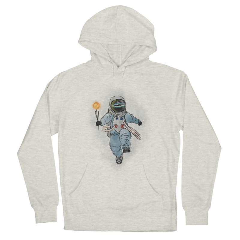 Spaceman with a Star Men's French Terry Pullover Hoody by selendripity's Artist Shop