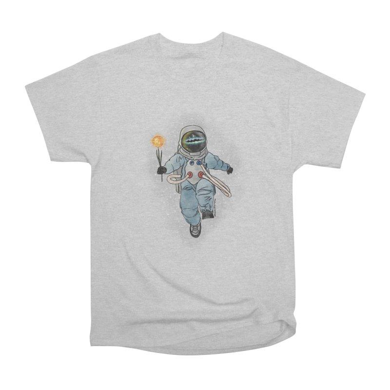 Spaceman with a Star Women's Heavyweight Unisex T-Shirt by selendripity's Artist Shop
