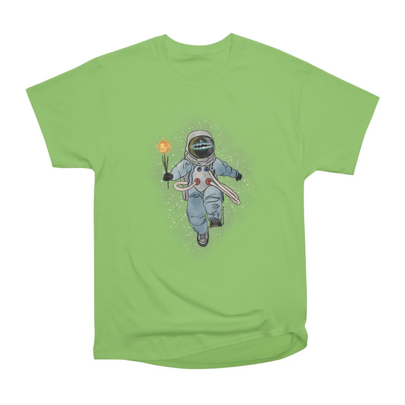Spaceman with a Star Women's Heavyweight Unisex T-Shirt by selendripity's Artist Shop