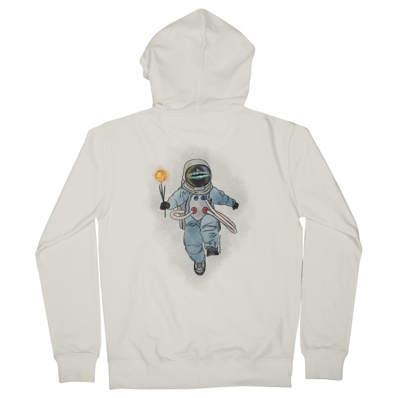 Spaceman with a Star Women's French Terry Zip-Up Hoody by selendripity's Artist Shop