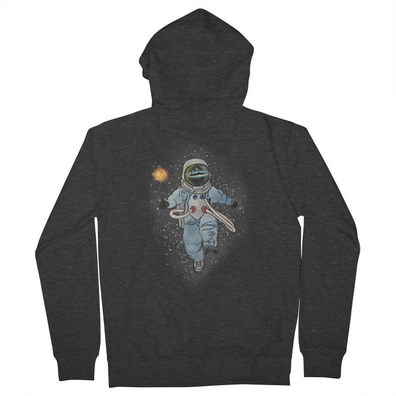 Spaceman with a Star Men's French Terry Zip-Up Hoody by selendripity's Artist Shop