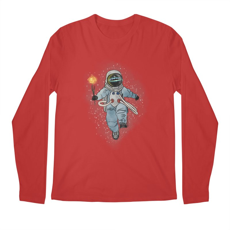 Spaceman with a Star Men's Regular Longsleeve T-Shirt by selendripity's Artist Shop