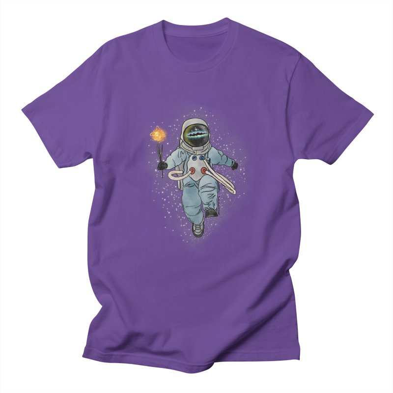 Spaceman with a Star Men's Regular T-Shirt by selendripity's Artist Shop