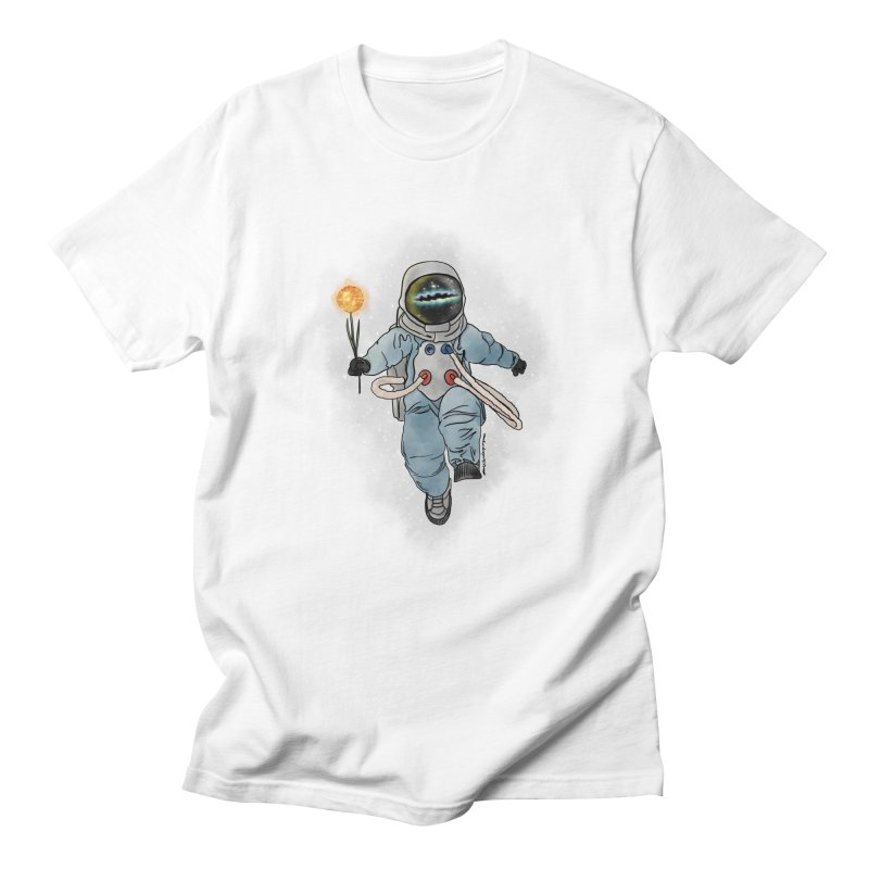 Spaceman with a Star Men's Regular T-Shirt by selendripity's Artist Shop