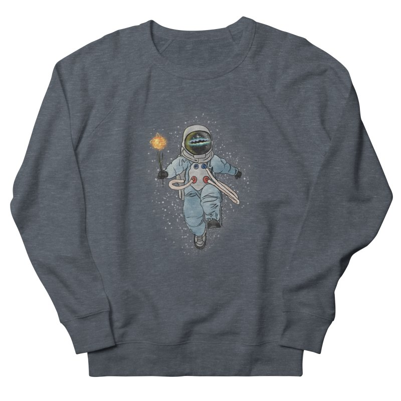 Spaceman with a Star Women's French Terry Sweatshirt by selendripity's Artist Shop