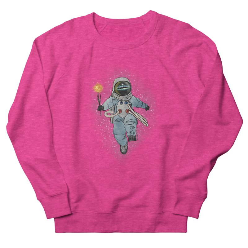 Spaceman with a Star Men's French Terry Sweatshirt by selendripity's Artist Shop
