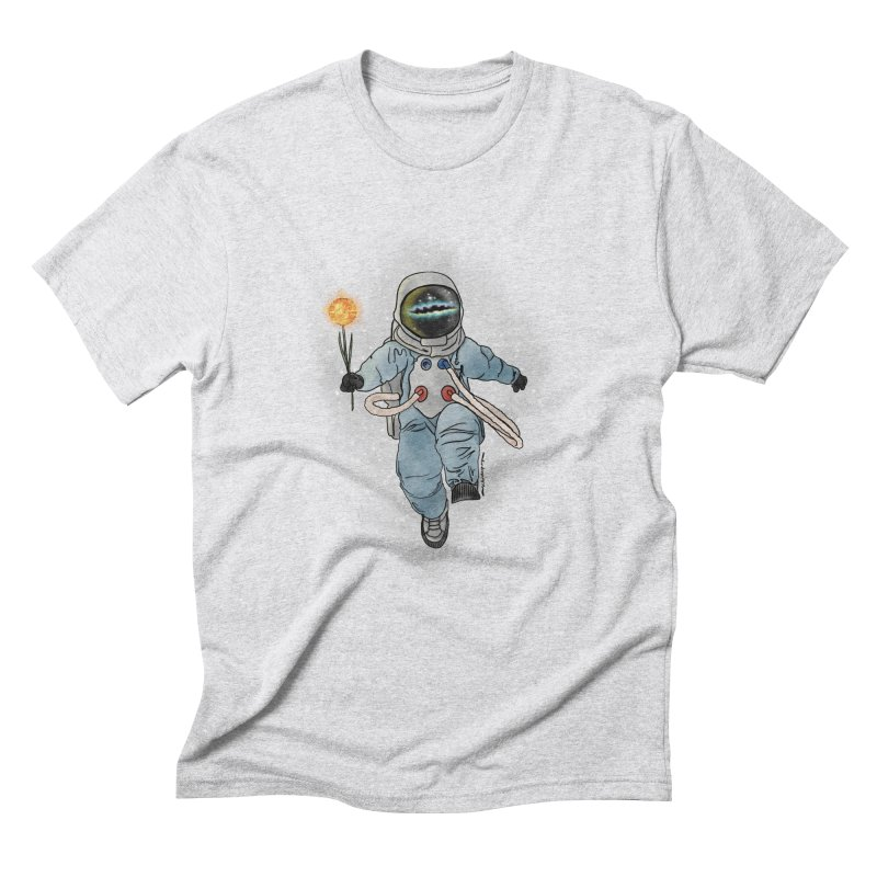 Spaceman with a Star Men's Triblend T-Shirt by selendripity's Artist Shop